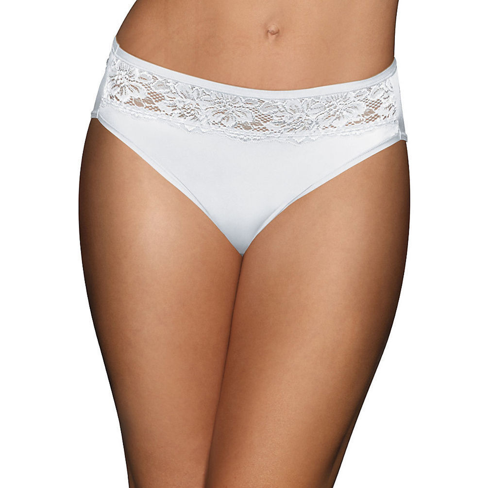 Bali One Smooth U Comfort Indulgence Satin with Lace Hi Cut Panty ...