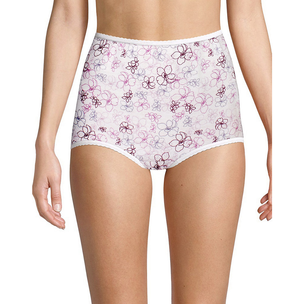BALI~XL 8~DFA332~3 Pr Navy//Pinky Peach Skimp Skamp Cool Cotton Brief Panties