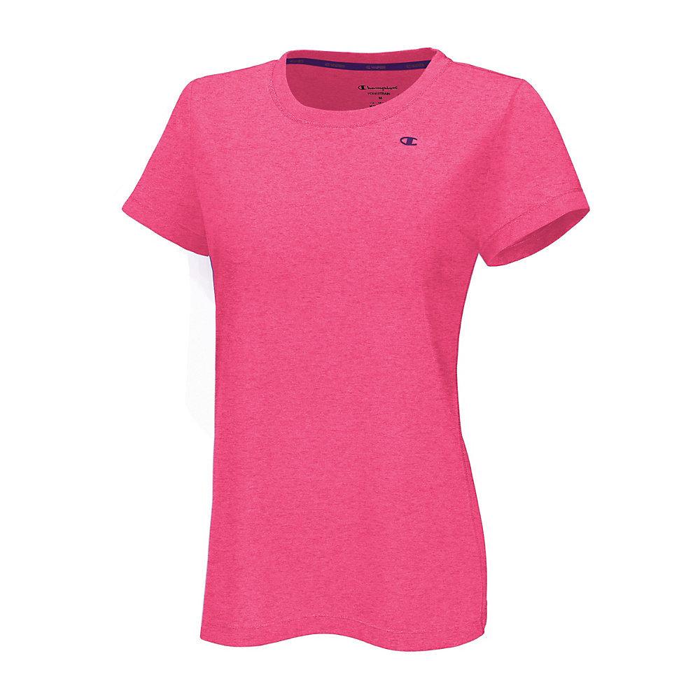 4516d618f Champion Vapor PowerTrain Short Sleeve Heather Womens Tee Shirt 7963 ...