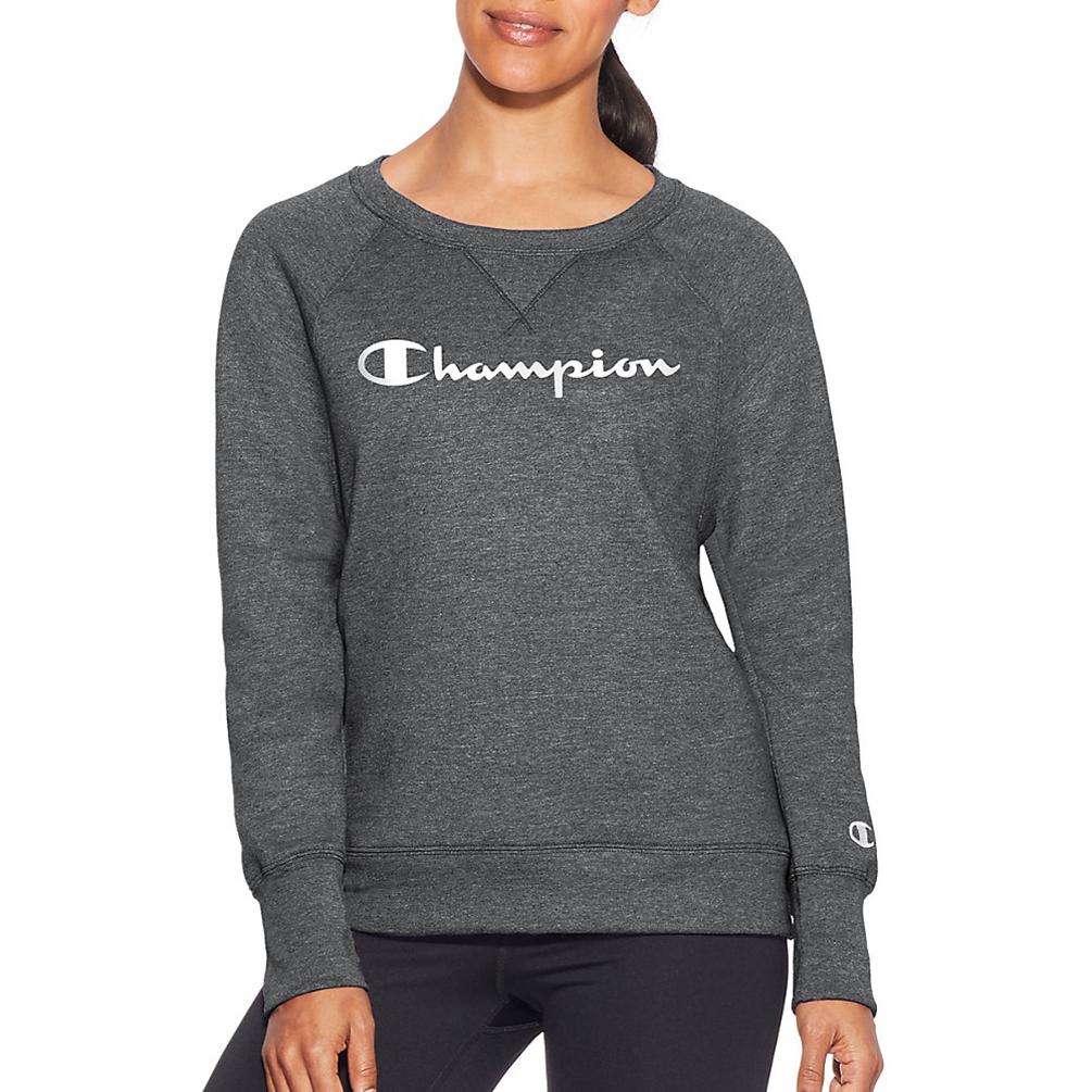 905e860e5f56 Champion Womens Fleece Boyfriend Sweatshirt W2956G Y07050 [$19.21] |  Hosiery and More