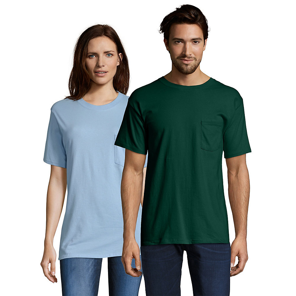 Hanes Beefy T Adult Pocket T Shirt 5190 From
