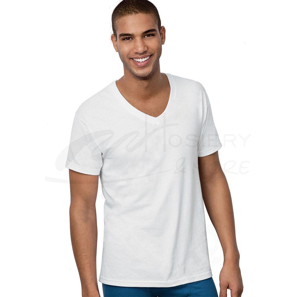 Hanes Classic Big Mens V Neck T Shirt 5 Pk 7880w5