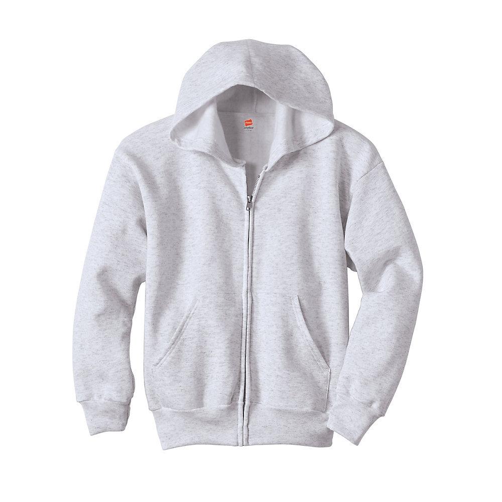 9c6eb1b3c707 Hanes Comfort blend EcoSmart Full-Zip Kids Hoodie Sweatshirt P480 ...