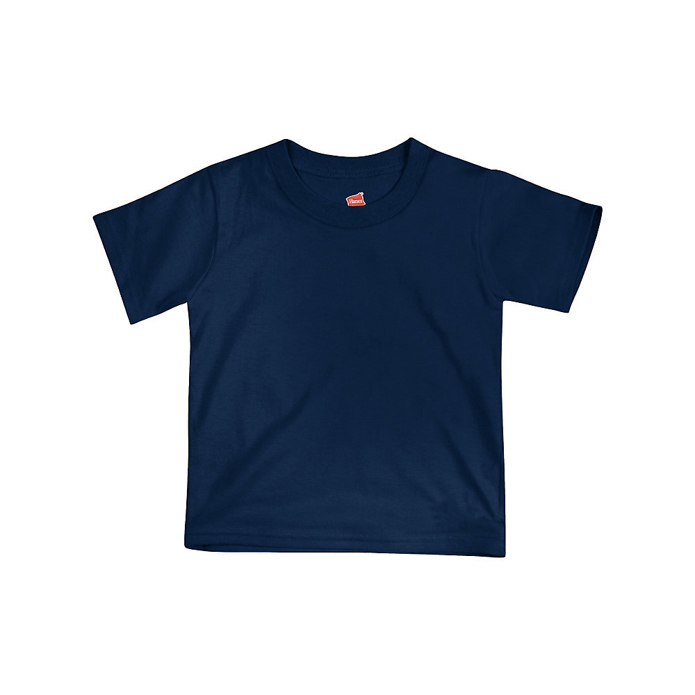 Hanes comfortsoft crewneck toddler t shirt t120 from 2 for Navy blue color shirt