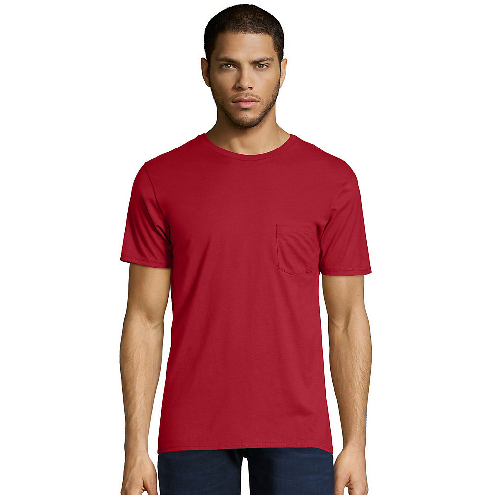 86f2dcdf0a18 Hanes Mens Vintage Short Sleeve Pocket T Shirt | Azərbaycan Dillər ...
