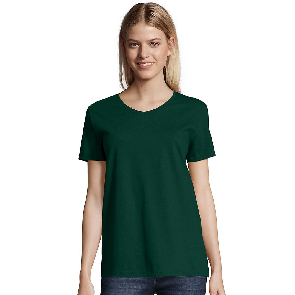 Hanes Relaxed Fit Womens Comfortsoft V Neck T Shirt 5780