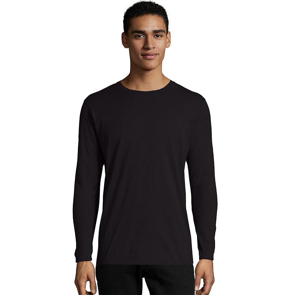 Black t shirt hanes - Hanes Tagless Nano T Mens Long Sleeve Tee Shirt 498l From 6 99 Hanes Tagless Nano T Mens Long Sleeve Tee Shirt 498l From 6 99