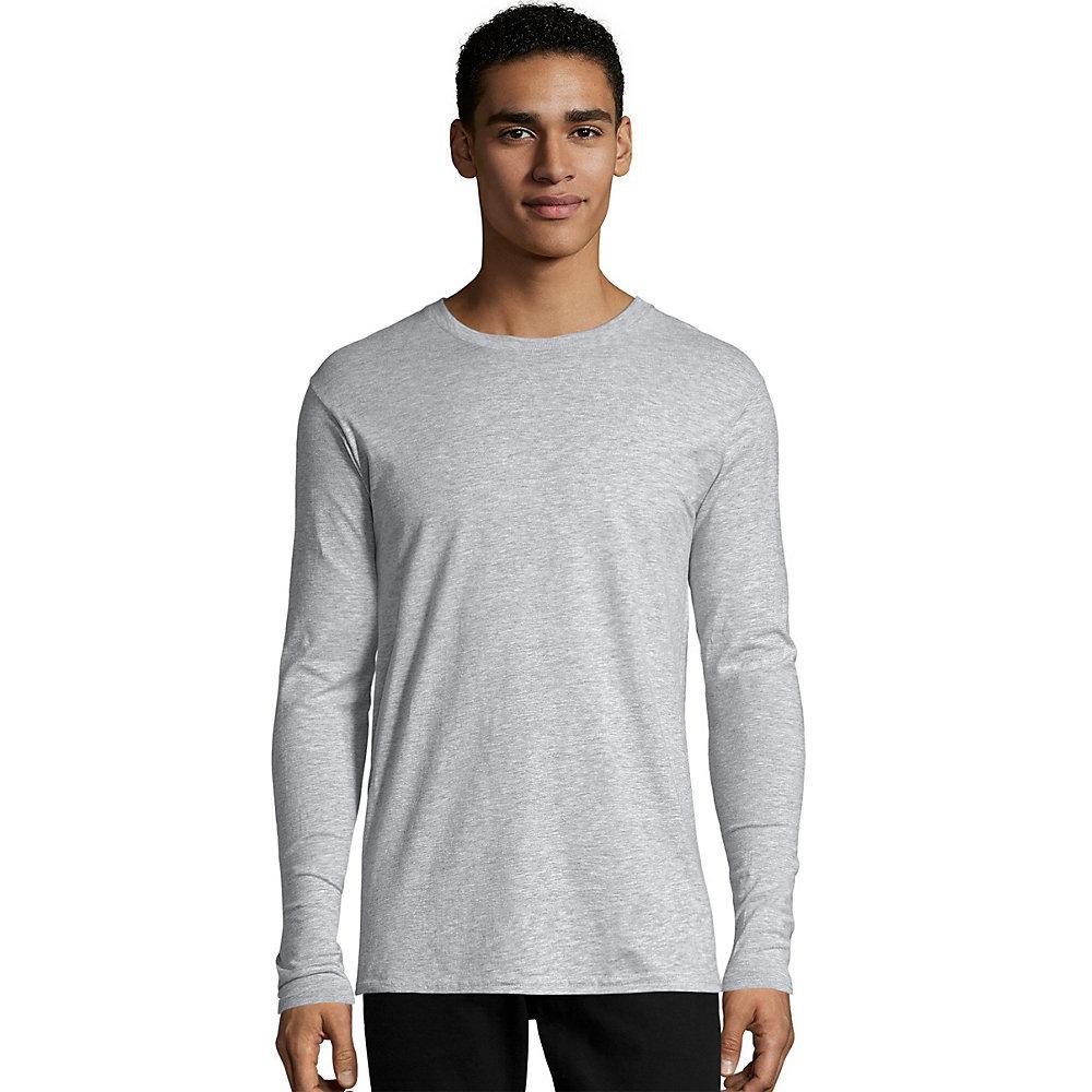 Hanes tagless nano t mens long sleeve tee shirt 498l from for Hanes comfortsoft tagless t shirt review