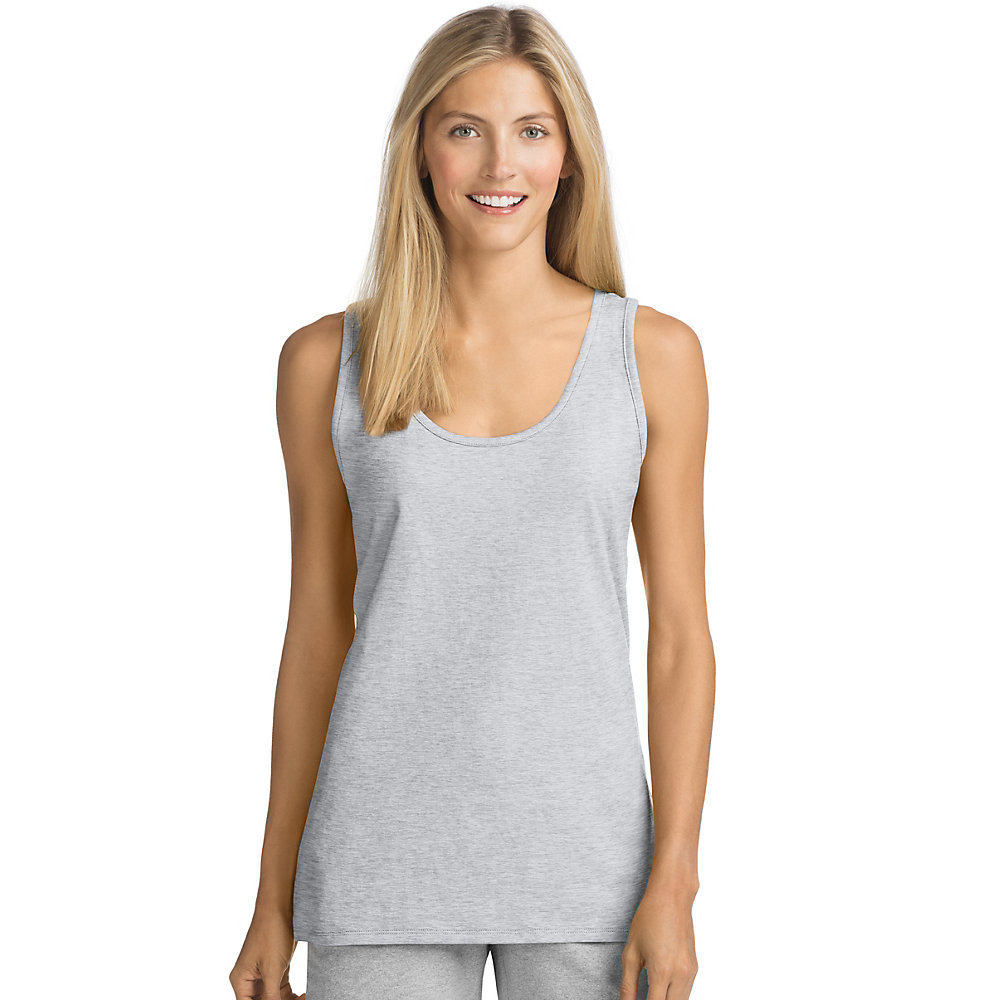 Hanes womens live love color scoop neck tank 9002 for Hanes t shirt underwire bra