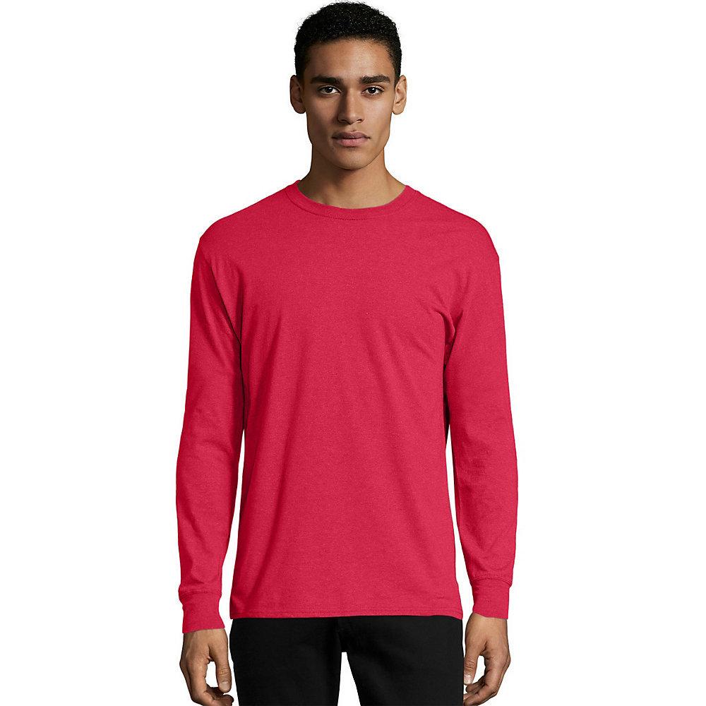 Hanes x temp mens long sleeve t shirt o5716 for Mens long sleeved t shirts