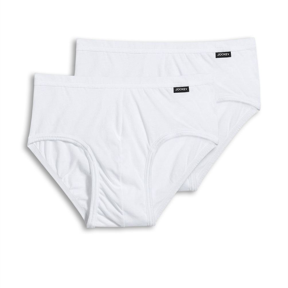 027a09d726 Jockey Mens Elance 100% Cotton Poco Brief - 2 Pack 1013   16.58 ...