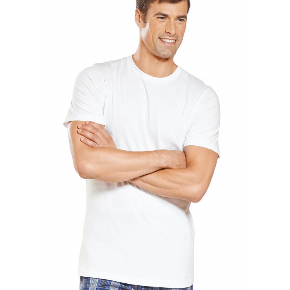 Jockey mens slim fit 3 pack crew neck t shirt 8455 for Mens slim white shirt