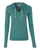 Alternative Women's Eco-Jersey Classic Hooded Pullover T-Shirt 1928