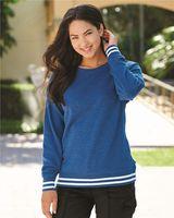J. America Women's Relay Crewneck Sweatshirt 8652