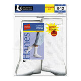 Hanes Womens Crew Socks 6-Pk (Shoe Size 8-12) 683/6P
