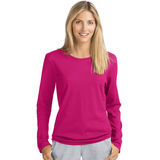 Hanes Women's Long-Sleeve Crewneck T-Shirt O9133