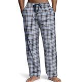 Hanes Mens Logo Woven Plaid Pants 2000B/2000BX