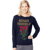 Hanes Women's Ugly Christmas Sweatshirt O4876