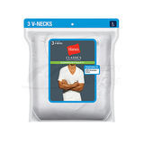 Hanes Classics Men's Traditional Fit ComfortSoft TAGLESS V-Neck Undershirt 3-Pk 7880W3
