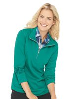 LAT Women's Quarter Zip French Terry Pullover 3764