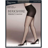 Berkshire Women's Plus-Size Queen Perfect Curves Control Shimmers Pantyhose 5023