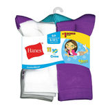Hanes ComfortBlend EZ-Sort Girls' Crew Socks 11-Pack  G41/11