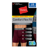 Hanes Men's Comfort Flex Fit® Ultra Soft Cotton Stretch Boxer Briefs 4-Pack (3 + 1 Free Bonus Pack) CFFBC4