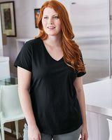 Just My Size Women's V-Neck Short Sleeve T-Shirt JMS30