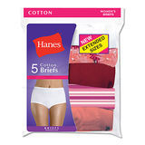 Hanes Womens Plus Cotton Brief 5-Pk P540AD