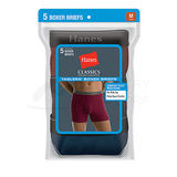Hanes Classics Mens Assorted Dyed Boxer Briefs 5-Pk 76925A
