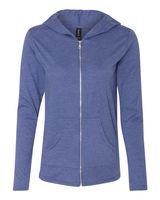 Anvil Triblend Women's Hooded Full-Zip T-Shirt 6759L