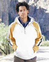 J. America Vintage Quarter-Zip Hooded Sweatshirt 8887