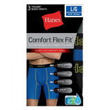 Hanes Men's Comfort Flex Fit Breathable Mesh Long Leg Boxer Briefs 3-Pack CFFLP3
