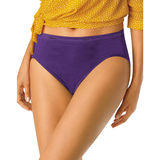 Hanes Women's No Ride Up Cotton Hi-Cut Panties 6-Pk PP43WB