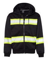 ML Kishigo Enhanced Visibility Heavyweight Hooded Full-Zip Sweatshirt B310