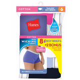Hanes Women's Cool Comfort Sporty Boy Brief 6 Pack P849SC