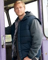 Burnside Nylon Vest with Fleece Sleeves 8701