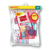 Hanes Toddler Girls' Cotton Briefs 10-Pack TP10AS