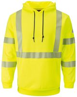 Bulwark Hi-Visibility Pullover Hooded Fleece Sweatshirt - Long Sizes SMH4L