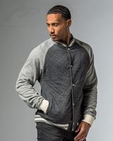 MV Sport Quilted Varsity Jacket 19161