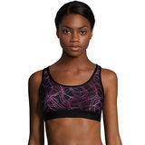 Hanes Sport Women's Racerback Compression Sports Bra O9178