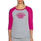Champion Women Heritage Slub Tee - Quarterback Print W9538G 549648