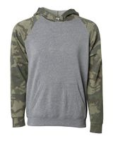 Independent Trading Co. Youth Special Blend Raglan Hooded Pullover PRM15YSB
