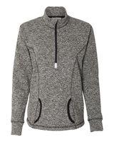 J. America Women's Cosmic Fleece Quarter-Zip Pullover 8617