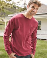 ComfortWash by Hanes Garment Dyed Long Sleeve T-Shirt With a Pocket GDH250