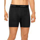 Hanes Men's Stretch Boxer Briefs With Comfort Flex Waistband 2XL Black/Grey 3-Pack ST23G3