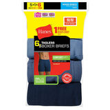 Hanes Mens TAGLESS Boxer Briefs with ComfortSoft Waistband Assorted 6-Pk (Includes 1 Free Bonus Brief) 7460Z6