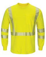 Bulwark Hi-Visibility Lightweight Long Sleeve T-Shirt - Long Sizes SMK8L