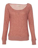 Independent Trading Co. Juniors' Wide Neck Sweaterfleece Crew PRM2400