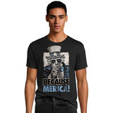 Hanes Men's Because Merica Graphic Tee GT49 Y07076